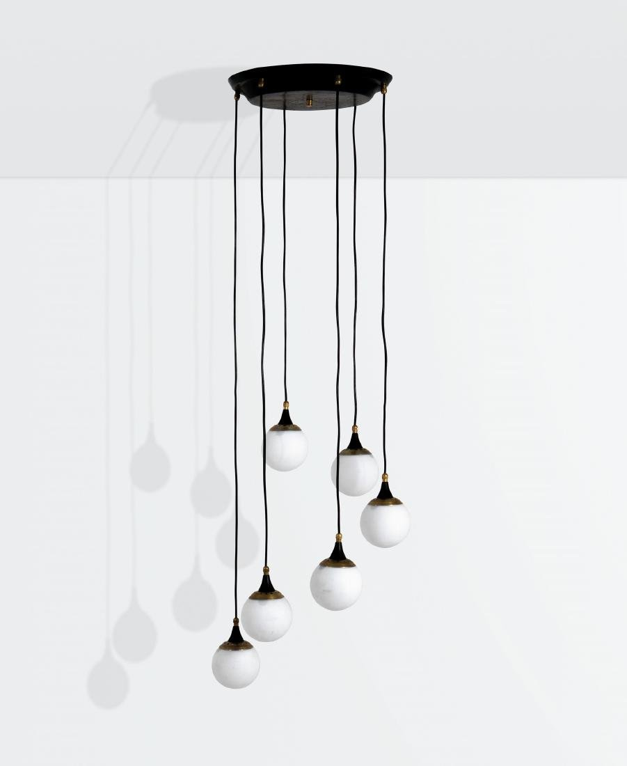 Stilnovo, a hanging lamp with a lacquered metal and