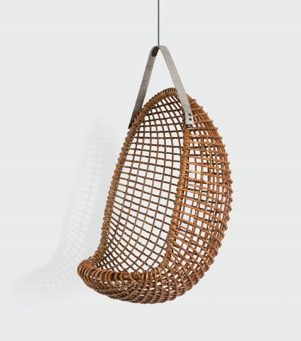 Giovanni Travasa, an Eureka swing chair with a rattan