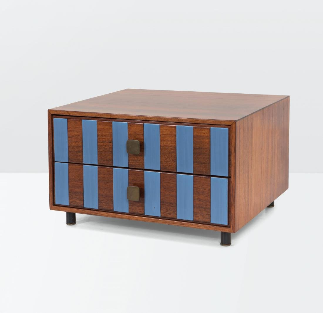Ettore Sottsass, a wood and lacquered wood sideboard.
