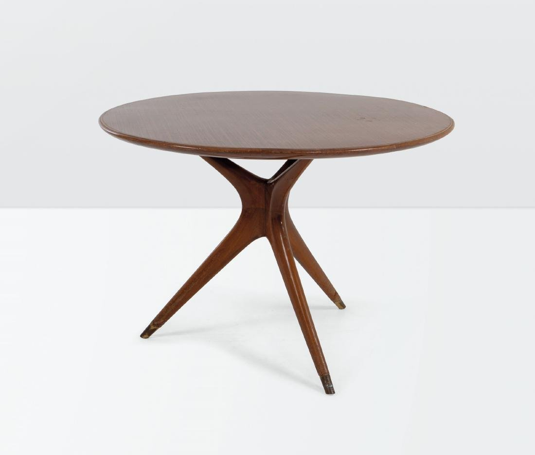 Ico Parisi, a table with a wooden structure and marble