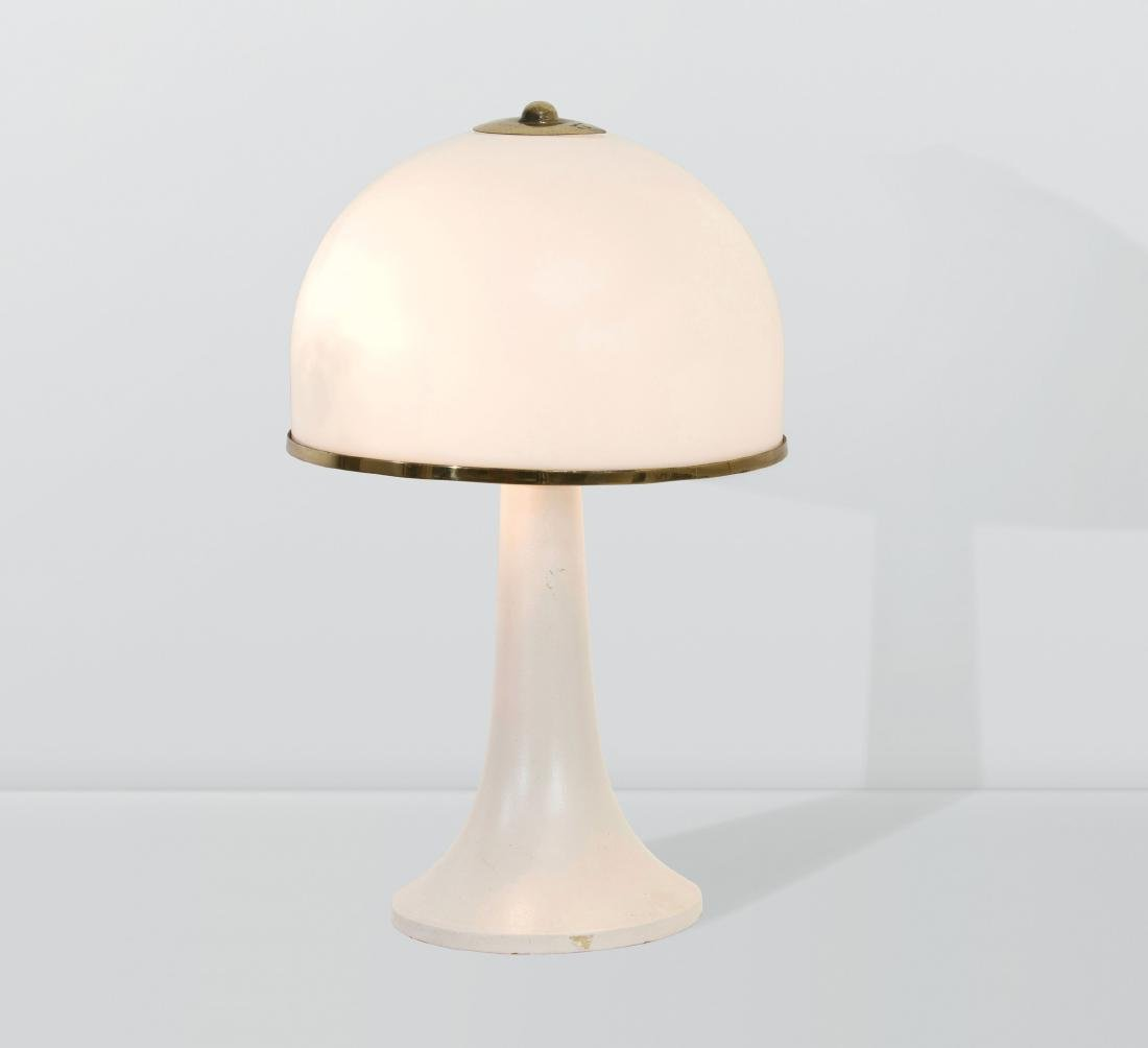 Gabriella Crespi, a table lamp with a perspex and brass