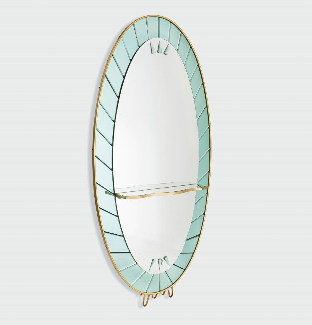Cristal Art, a large mirror with a coloured and cut