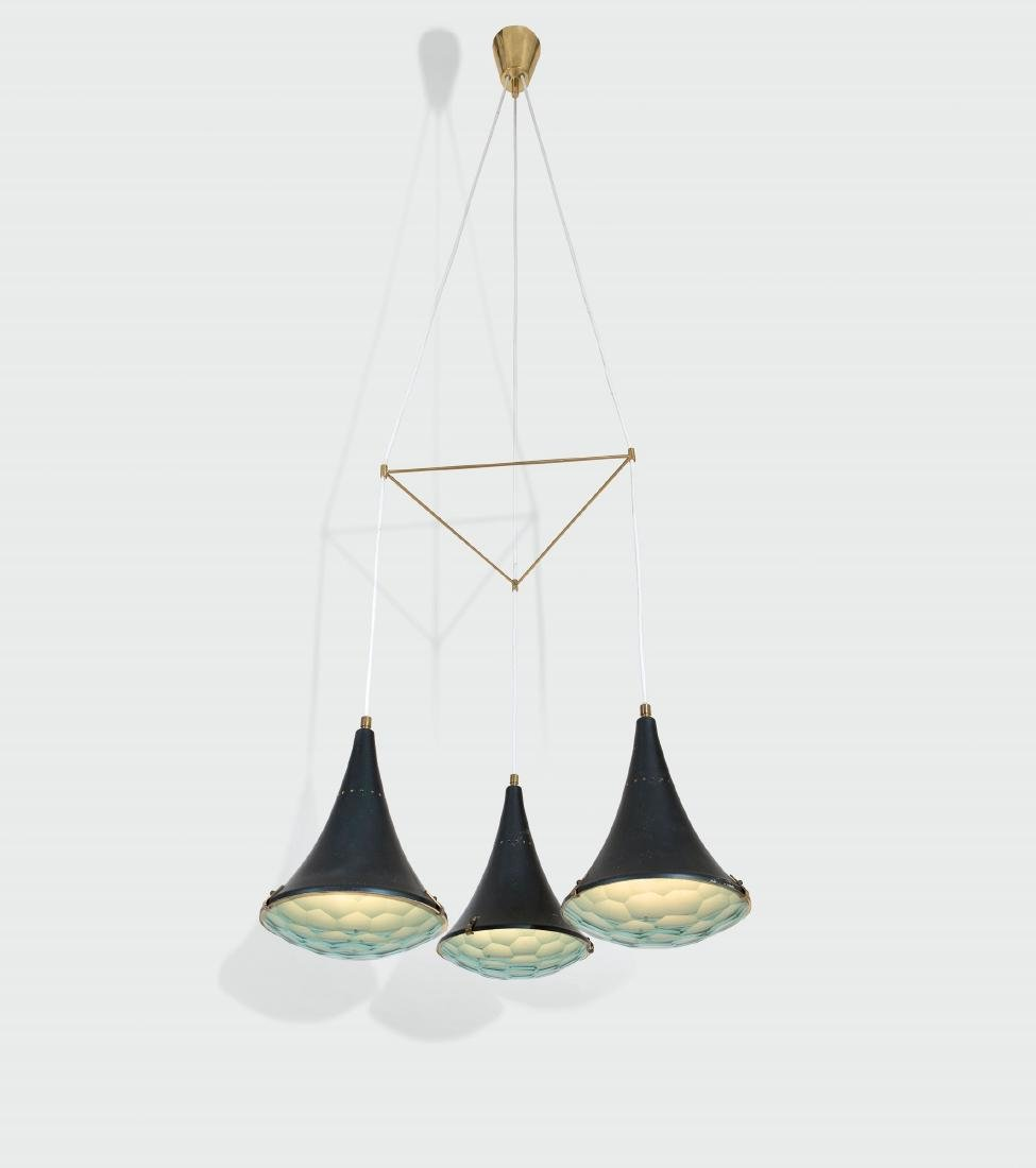 Stilnovo, a pendant lamp with a lacquered aluminum and