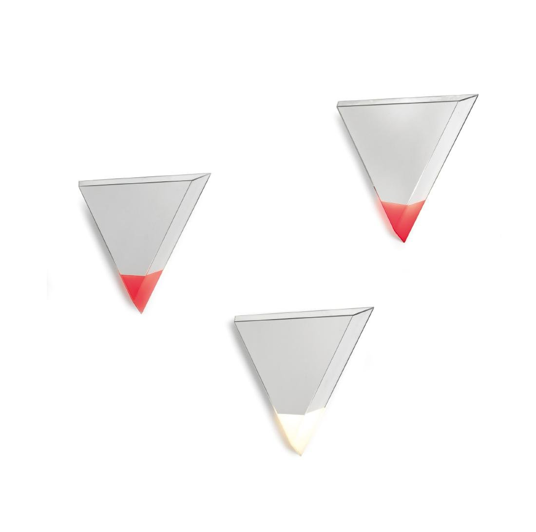 Nanda Vigo, three light appliques from the Life series
