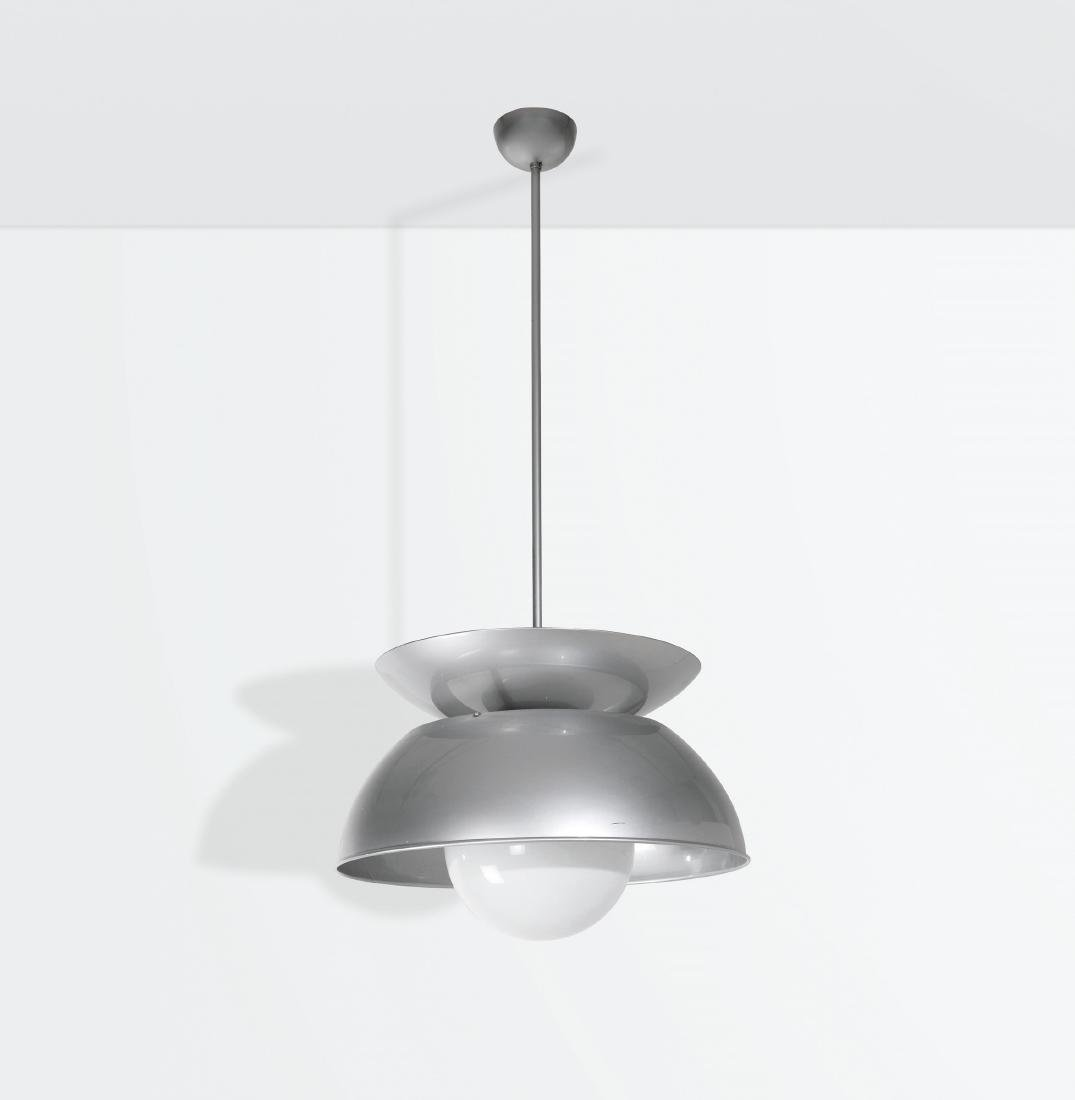 Vico Magistretti, a Cetra pendant lamp with a nickeled