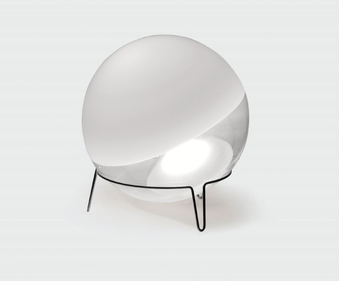 Angelo Mangiarotti, a Sfera table lamp in Murano glass