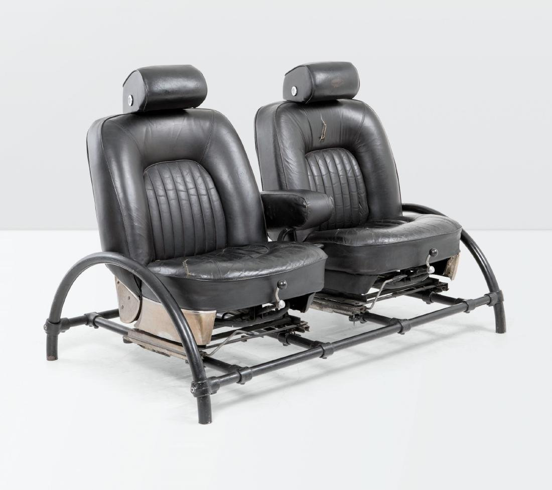 Ron Arad, a Rover sofa. Lacquered metal structure and