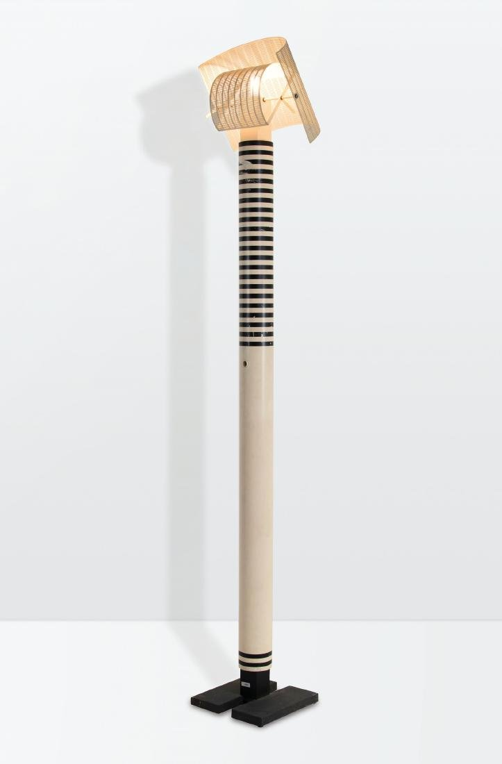 Mario Botta, a Shogun floor lamp with a lacquered metal
