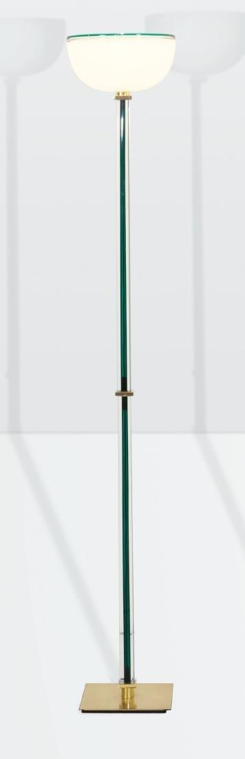 Venini, a Tolboi floor lamp in hand-blown glass. Brass