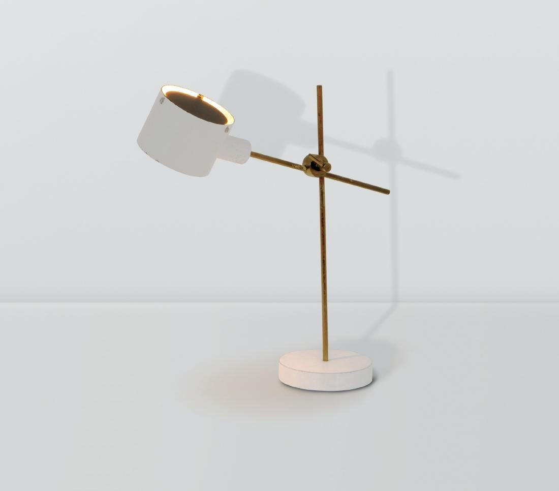 Tito Agnoli, an adjustable table lamp with a brass and