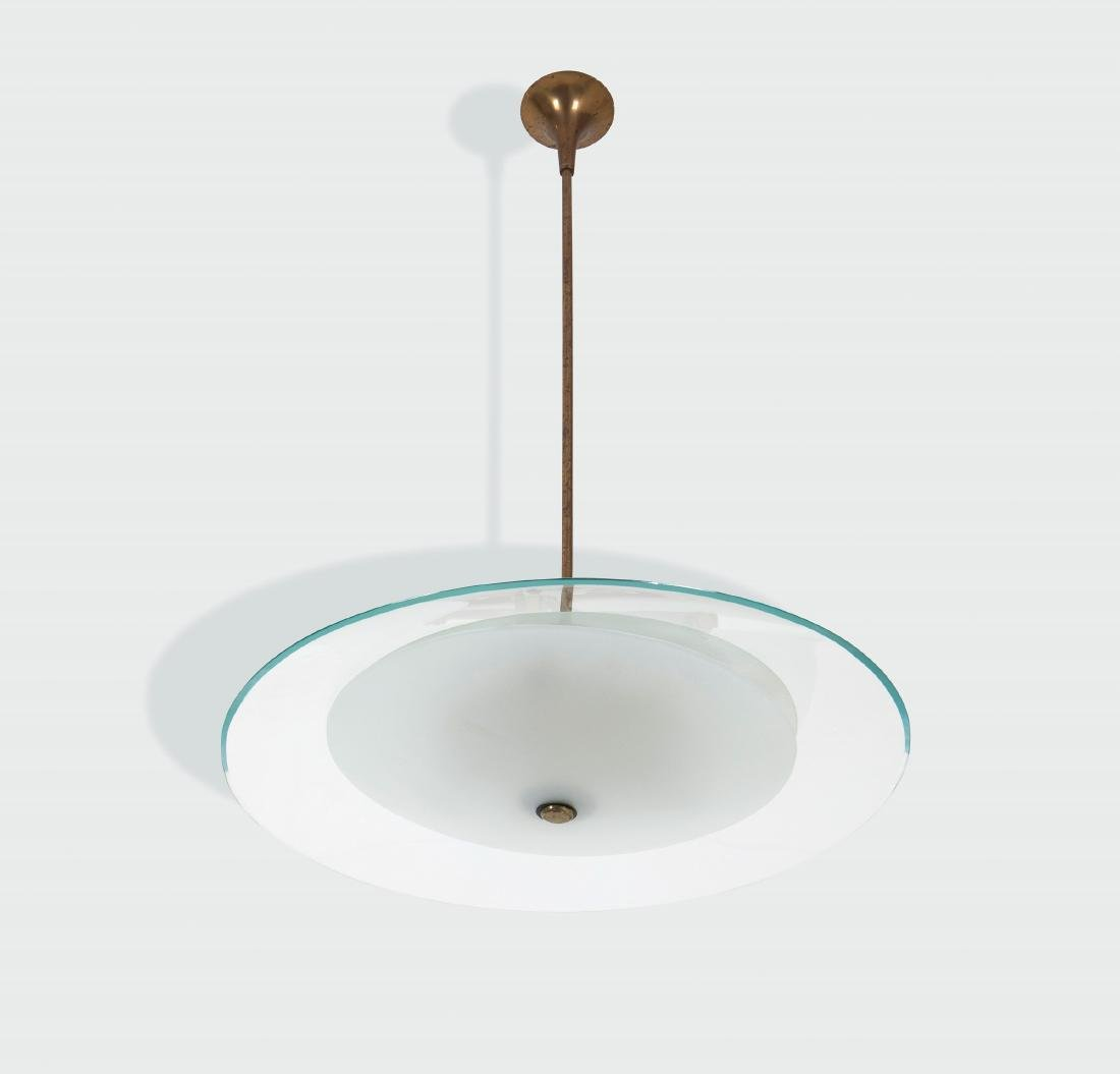 Pietro Chiesa, a pendant lamp with a brass structure