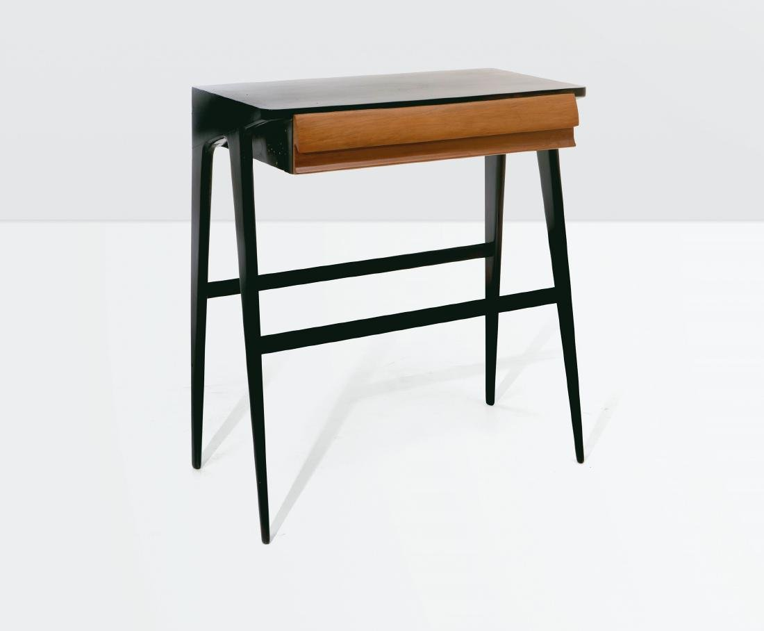 Ico Parisi (?), a console table with an ebonised wood