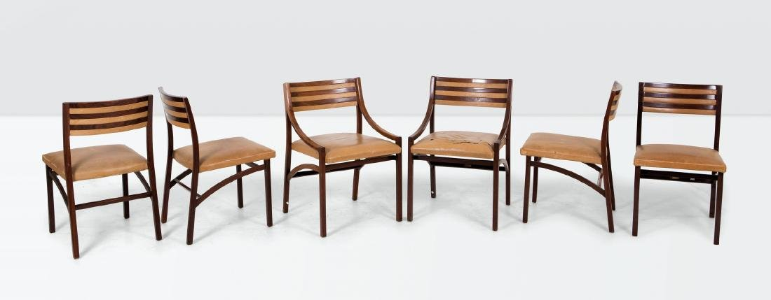 Ico Parisi, four mod. 110 chairs and two small