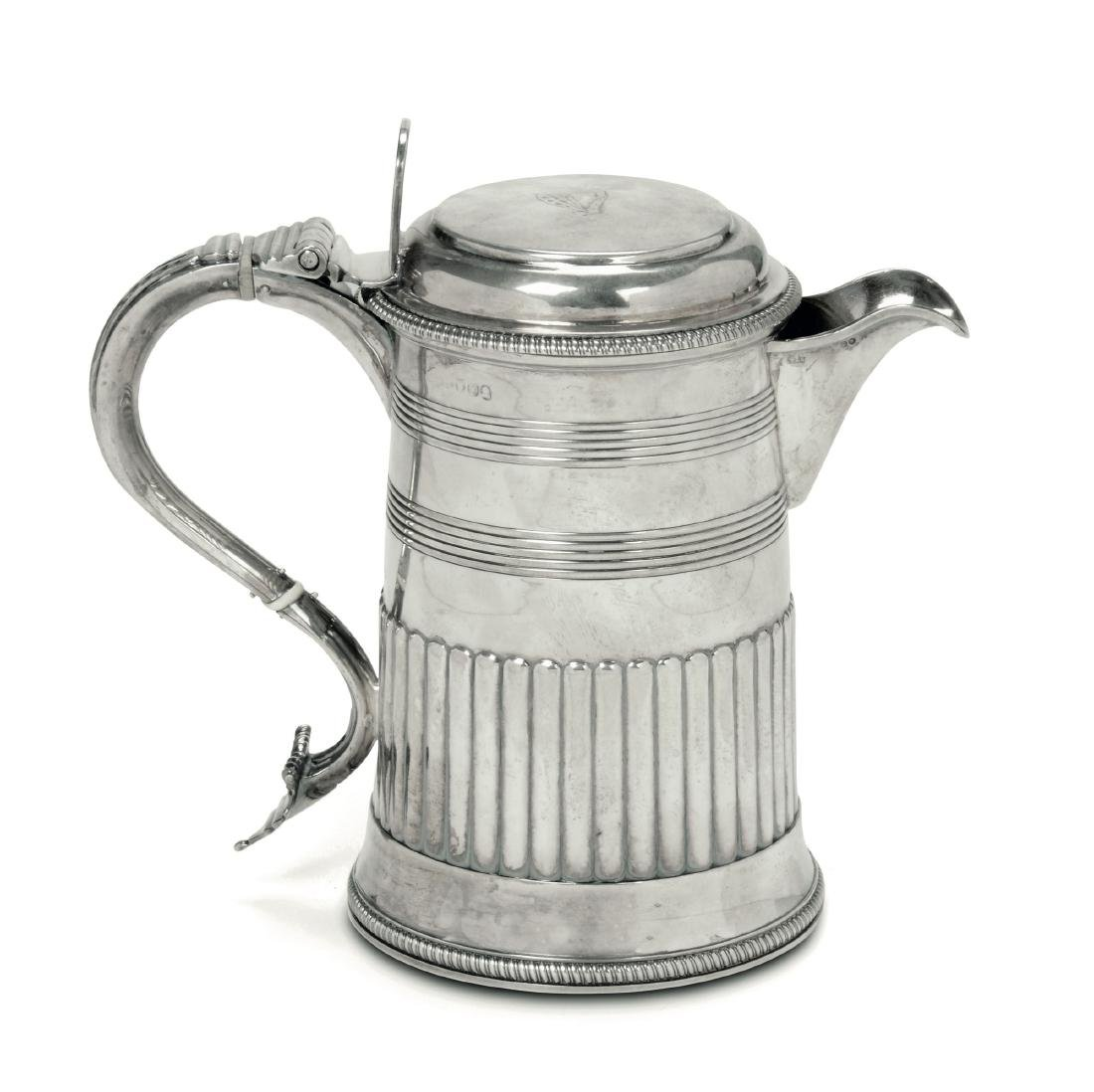 A gilt silver tankard, London 1809