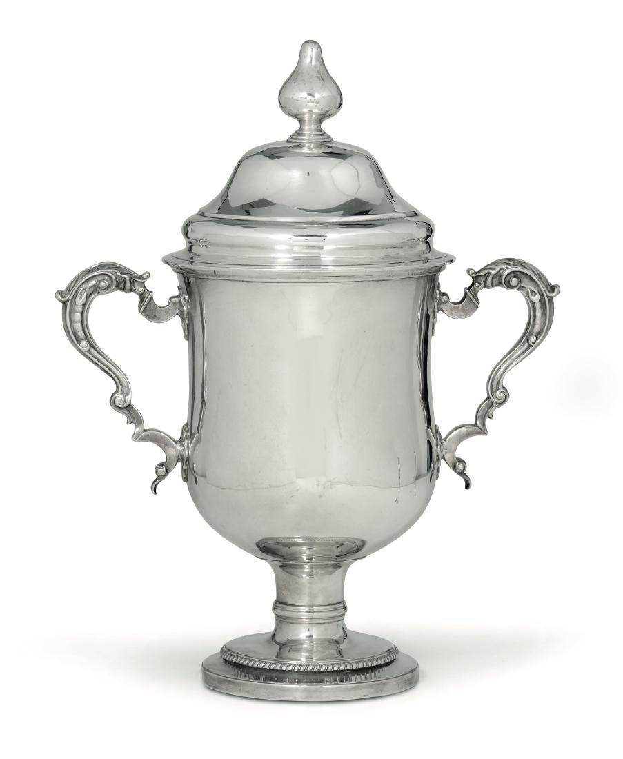 A silver chalice, R. Garrard, London 1804
