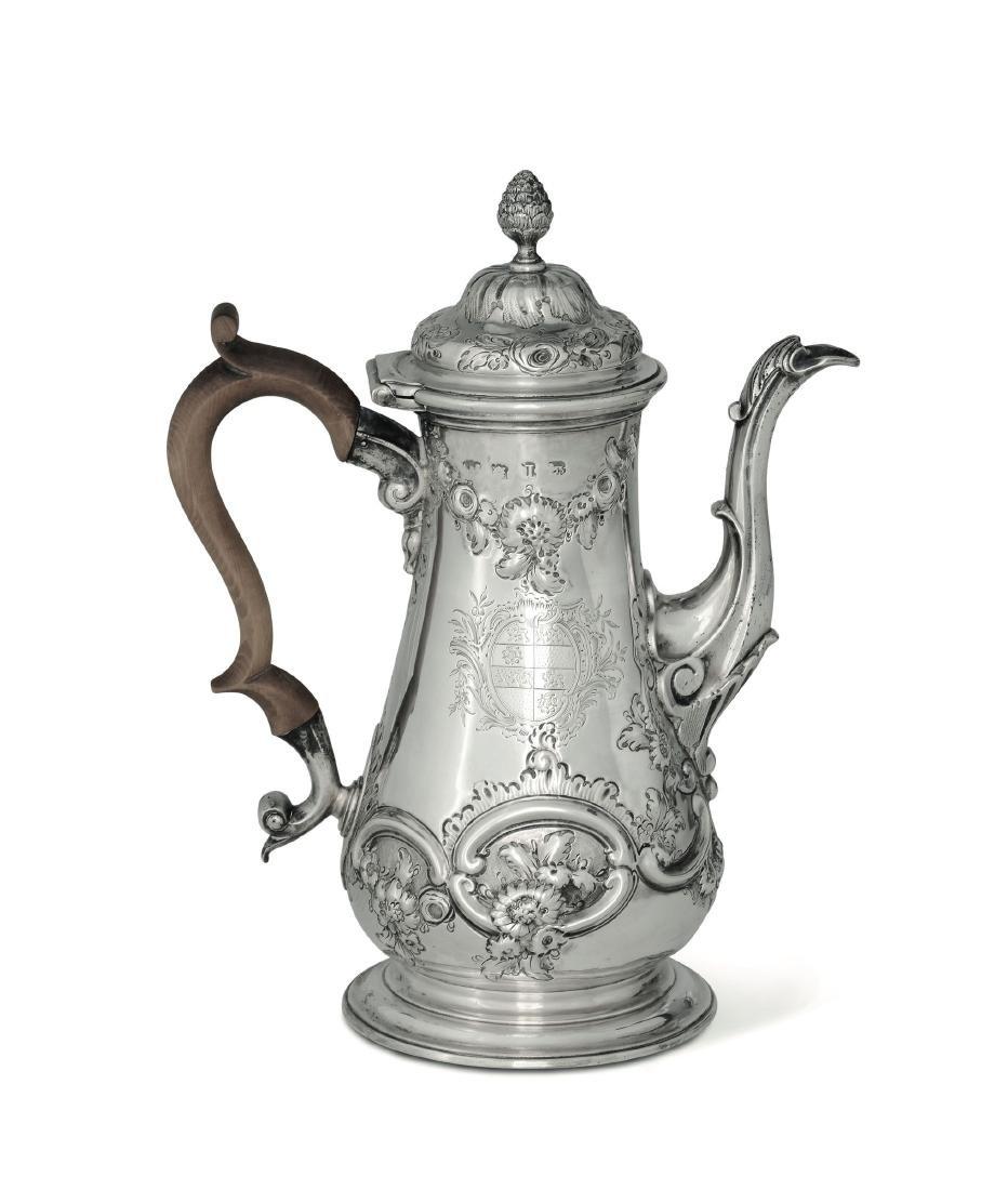 A coffee pot, London, 1740-1755