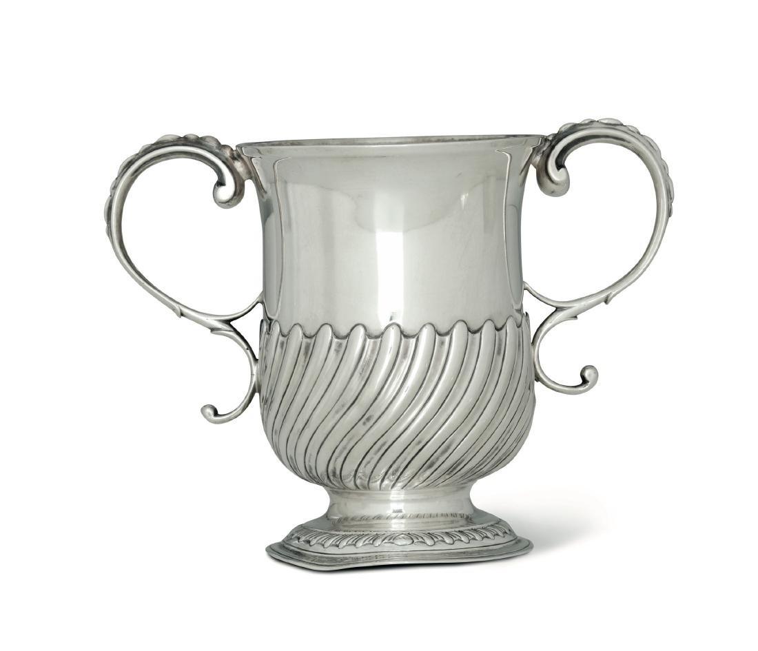 A silver goblet, FC, London 1757