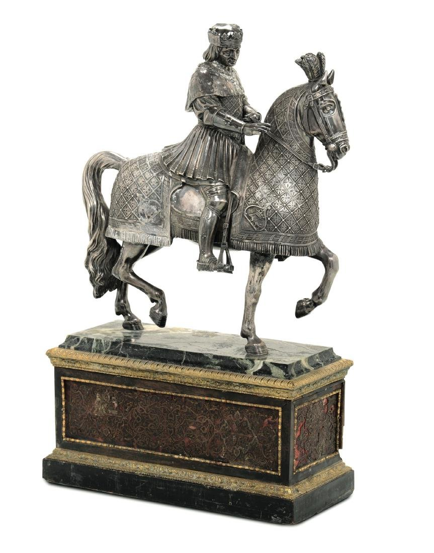 A silver sculpture, France, second half of the 19th - 2