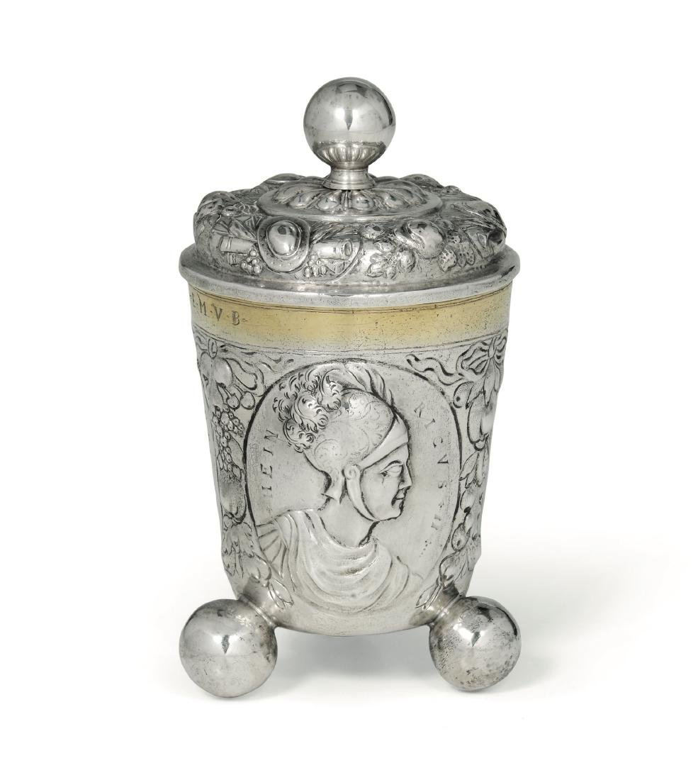 A silver cup, Germany, 18th century