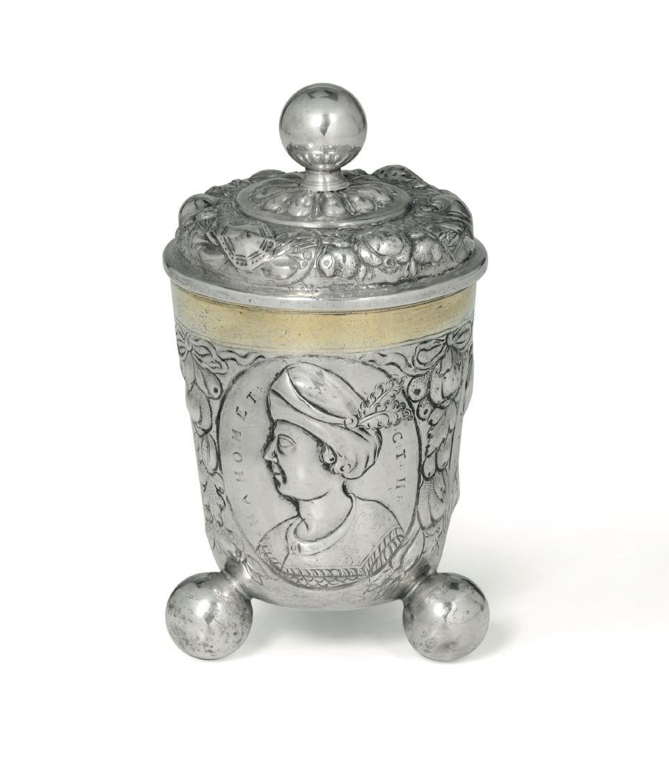A silver cup, Germany, 18th century - 2