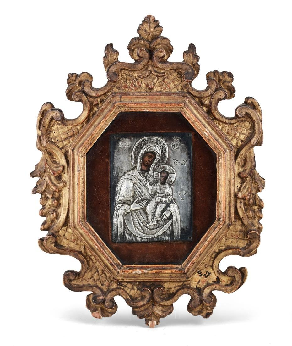 A small icon, central Europe, 19th century