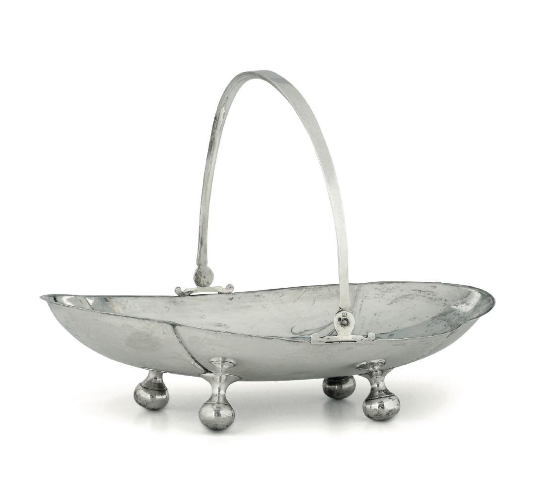 A silver centrepiece basket, Russia, 20th century