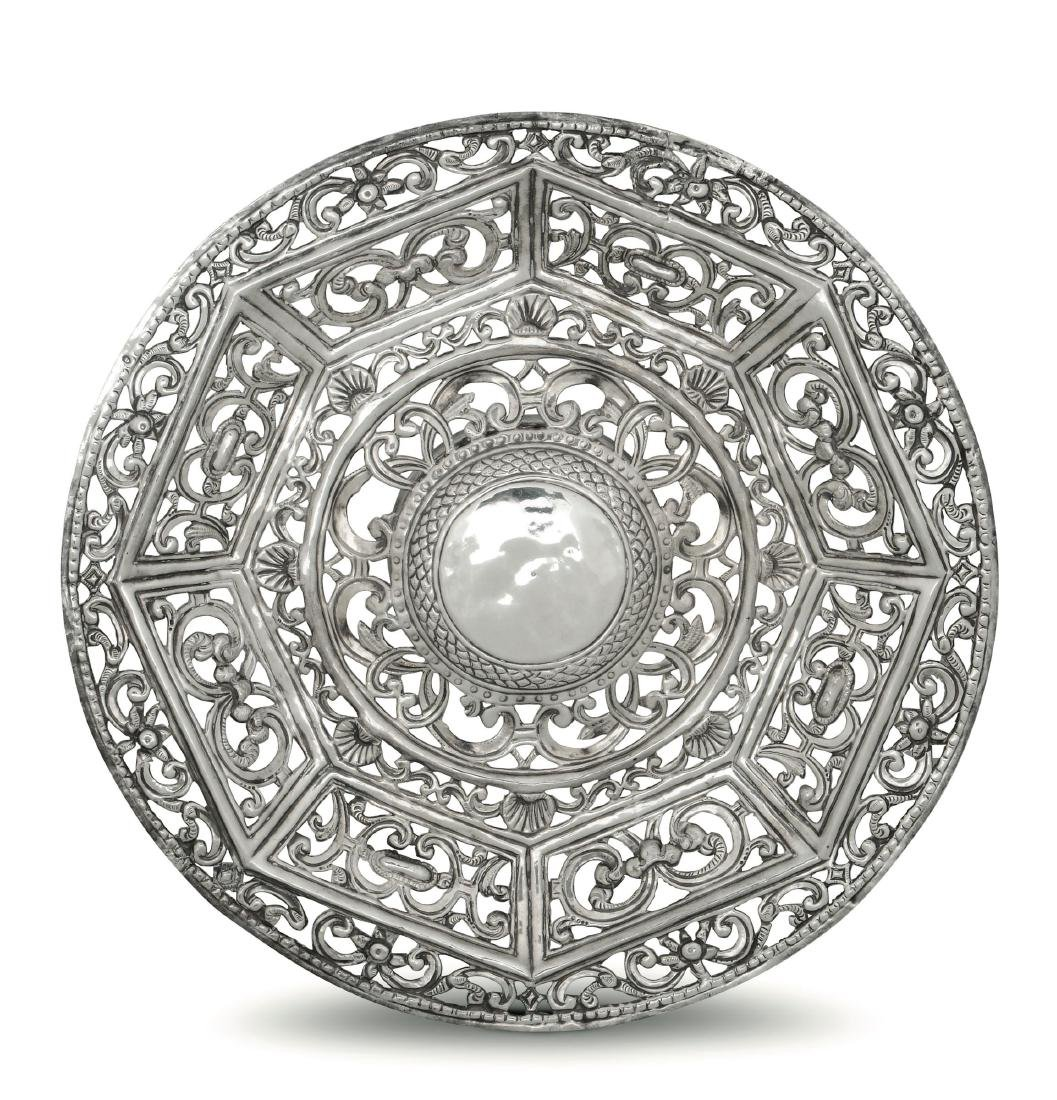 A silver stand, French colonies, likely 17-1800s