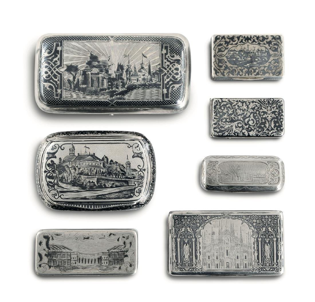 Seven boxes, Russia-France-Italy, 18-1900s