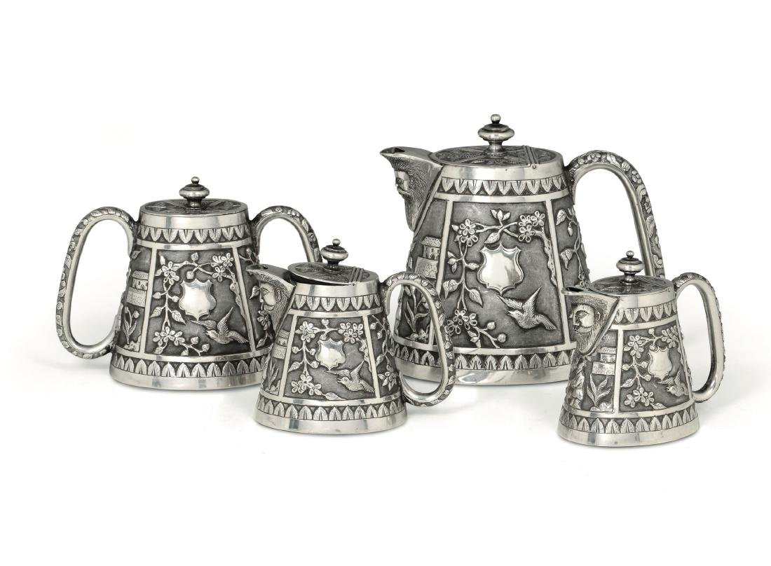A coffee set, NF&Co., Bombay, 20th century
