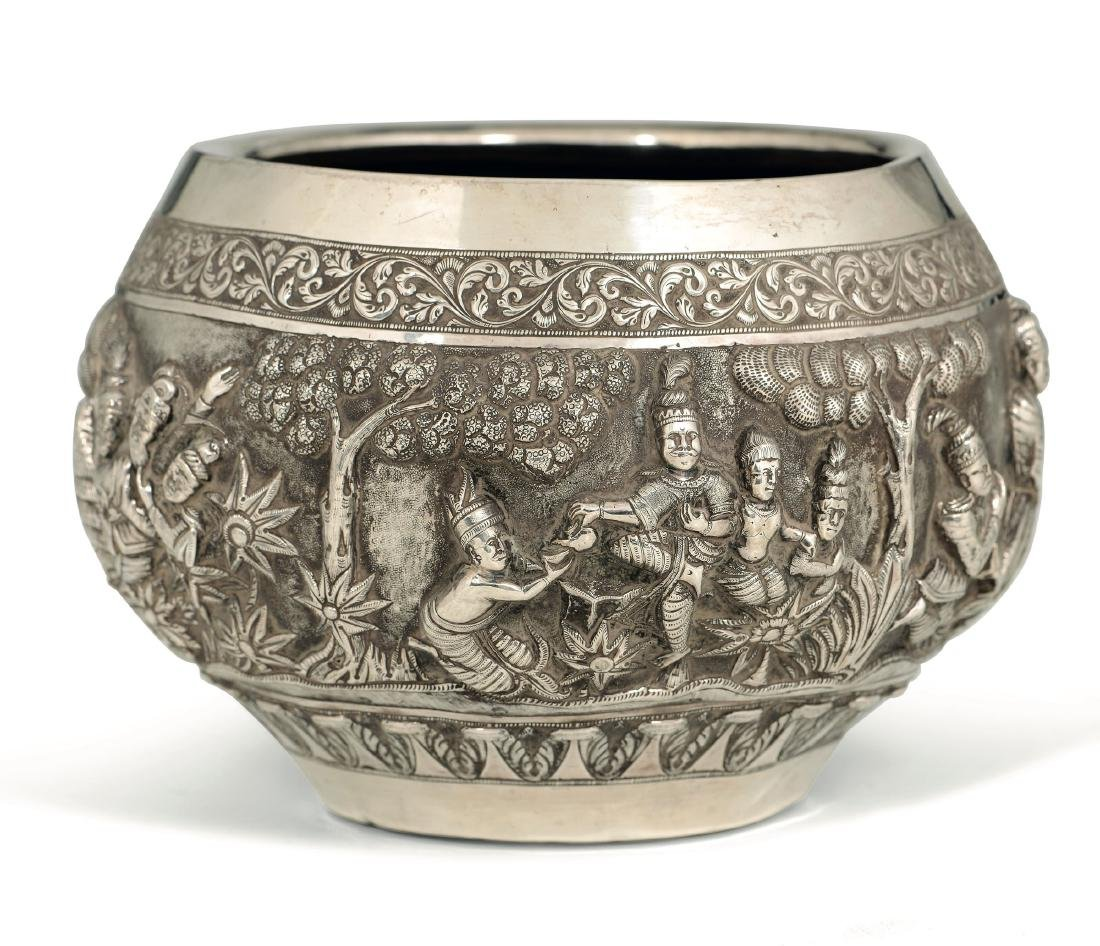A silver cup, India or Burma, 19th-20th century