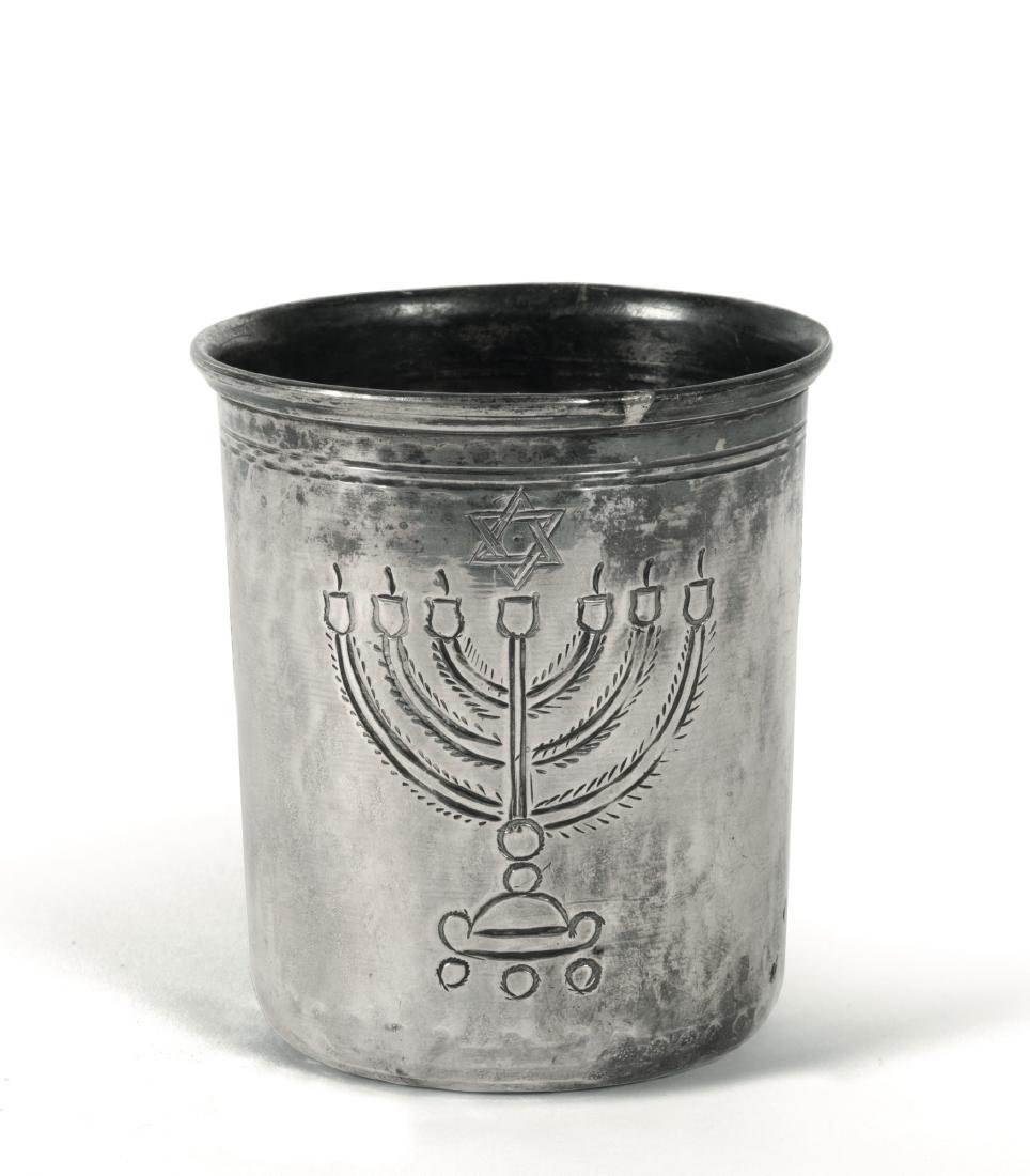 A Kiddusch cup, likely 18th century