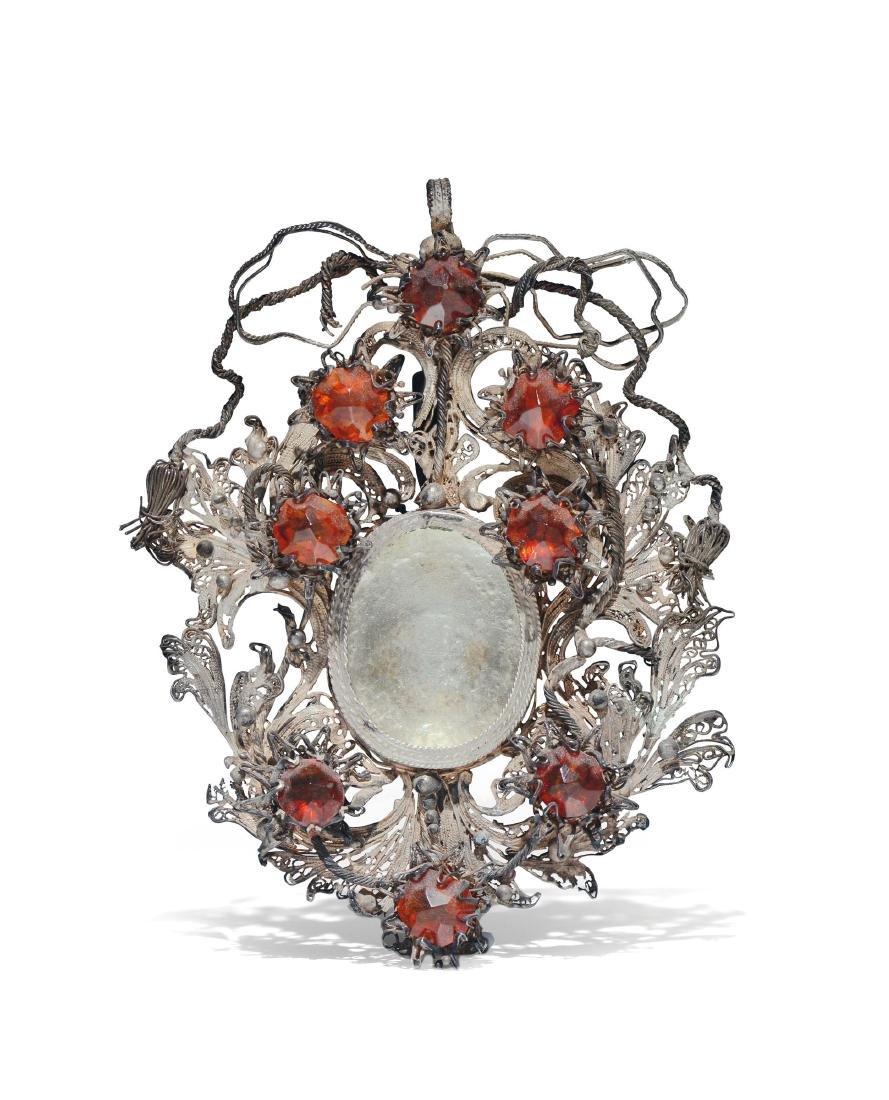A reliquary pendant, Sicily (?), 18th century