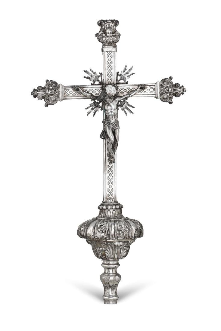 A processional cross, Naples, early 18th century