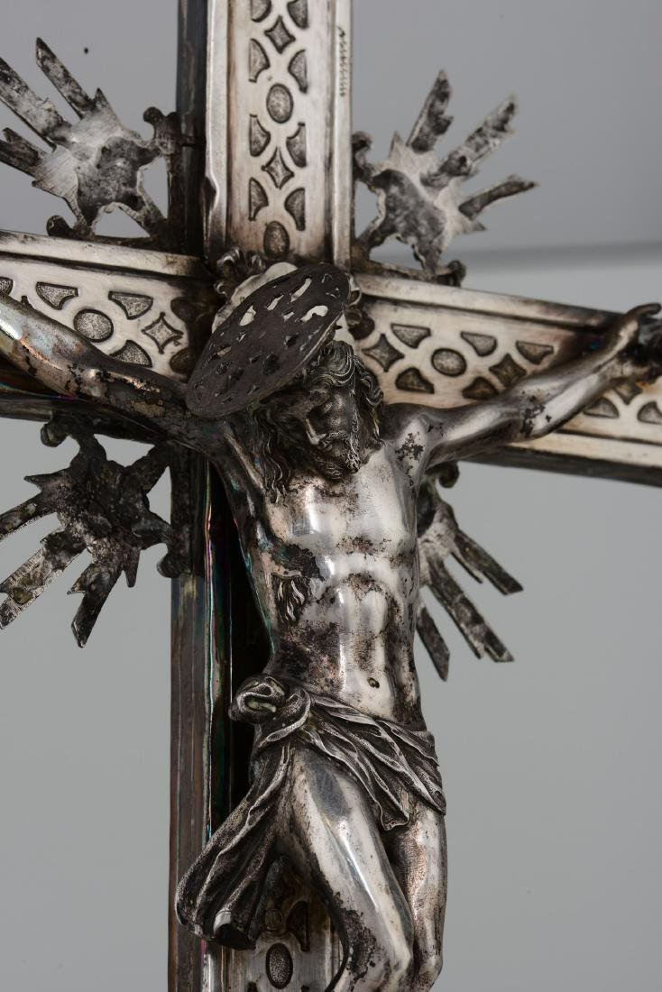 A processional cross, Naples, early 18th century - 3