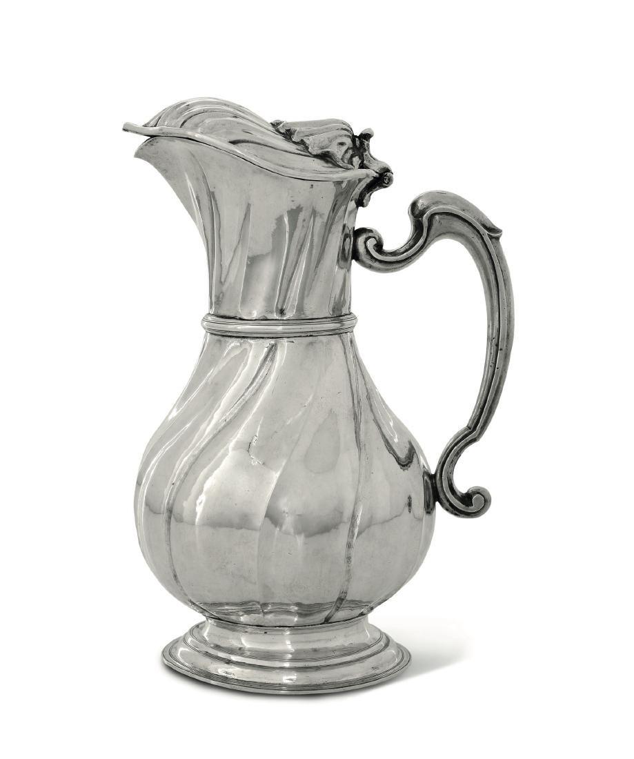 A silver pitcher, Genoa, late 1700s