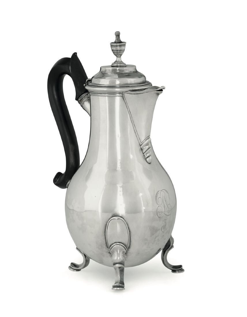 A silver coffee pot, Genoa, late 18th century - 2