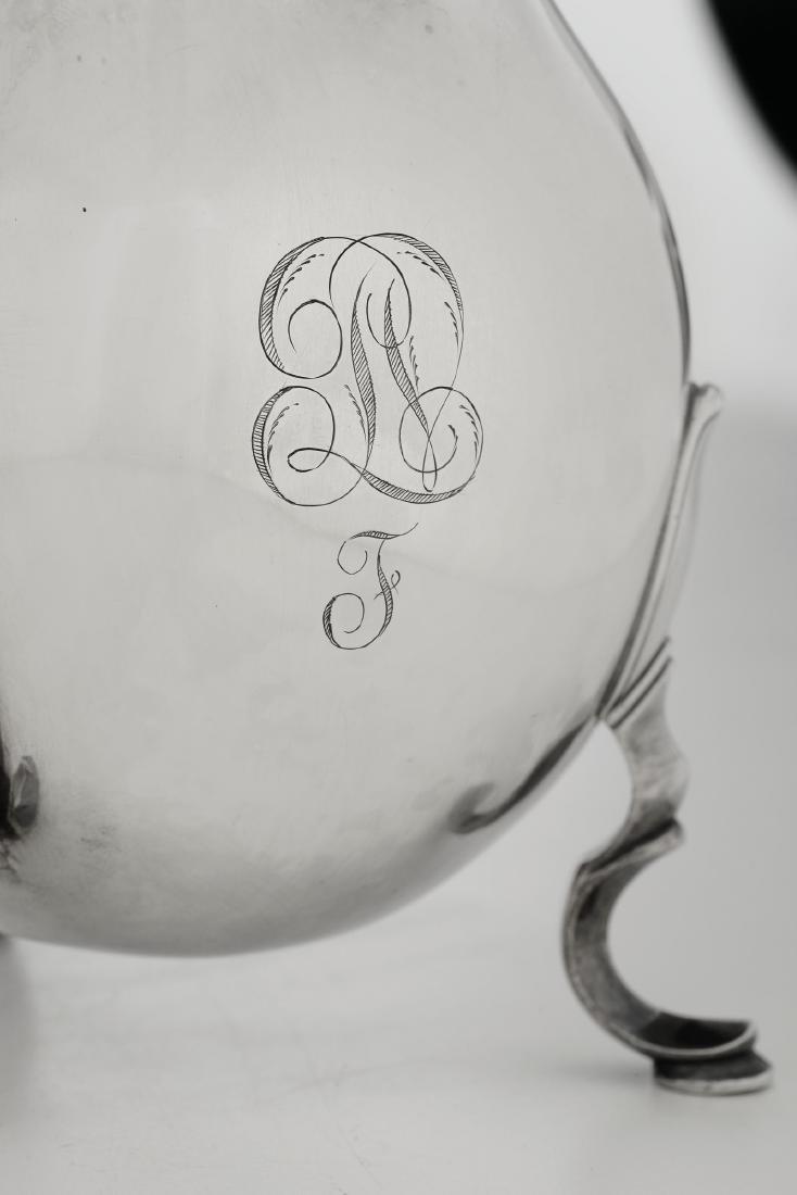 A silver coffee pot, Genoa, late 18th century - 3