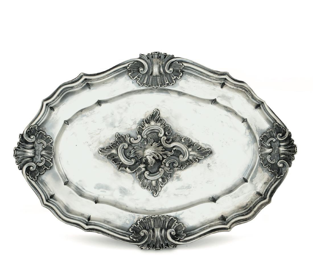 A silver tray, Genoa, 18th century