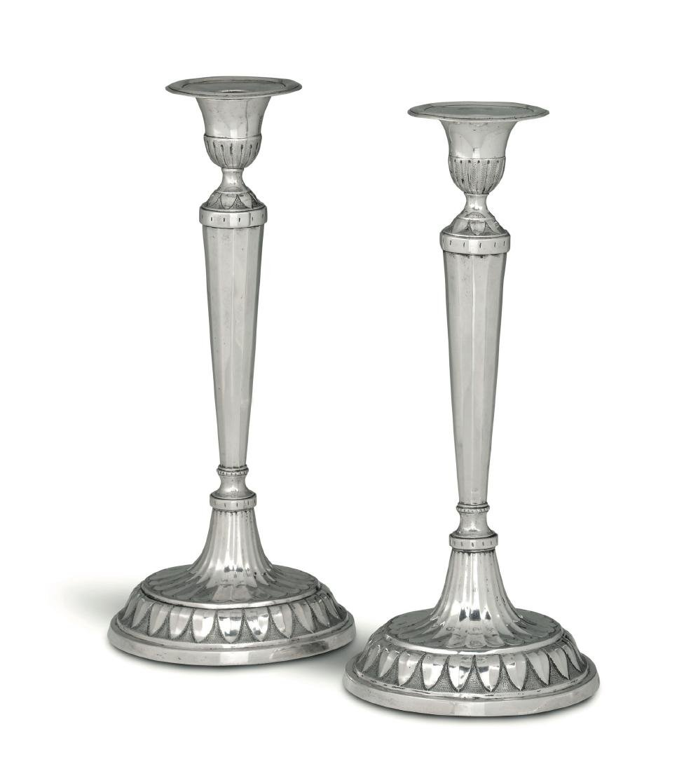 Two candle holders, Genoa, 1791