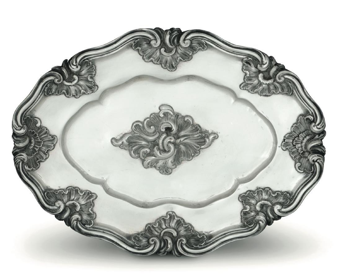 A silver tray, Genoa, 1765