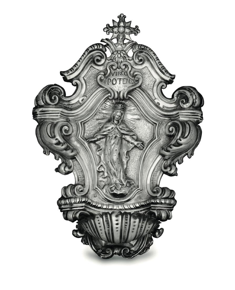 A holy water fount, Genoa, early 18th century