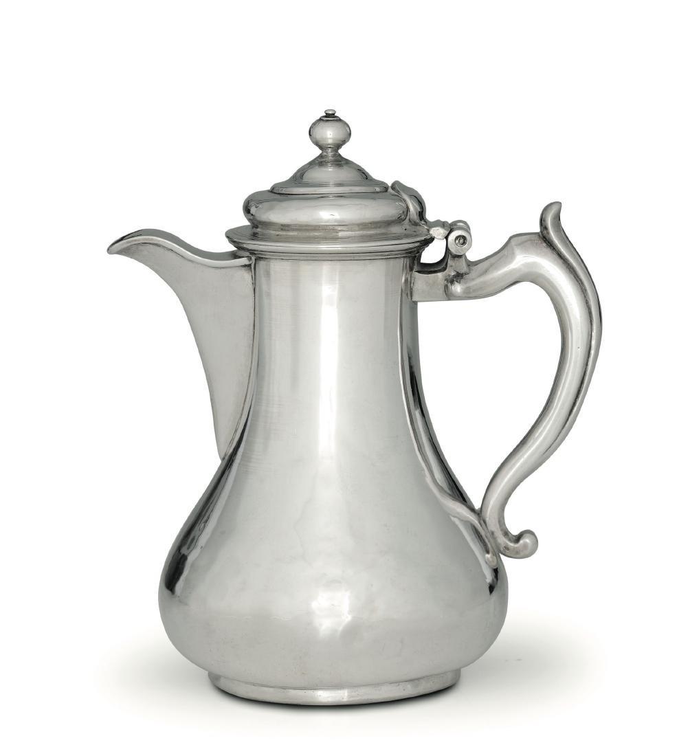 A silver coffee pot, Venice, 18th century