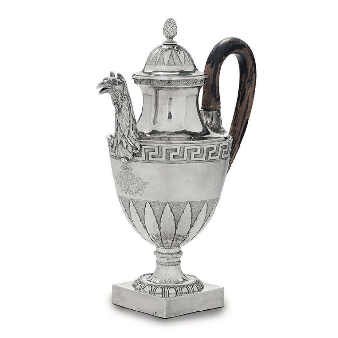 A coffee pot, G. Spagna, Rome, late 1700s