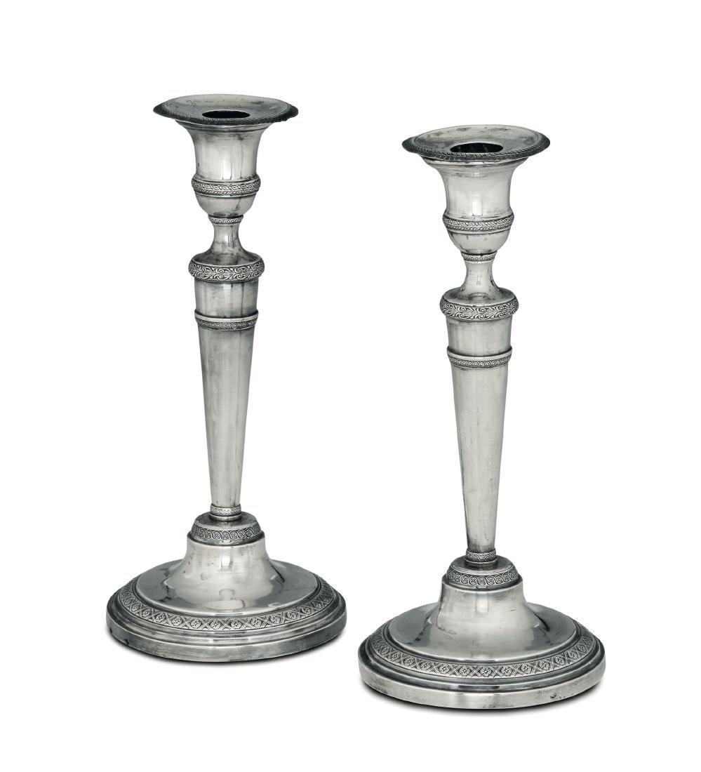 Two candle holders, Turin, 19th century