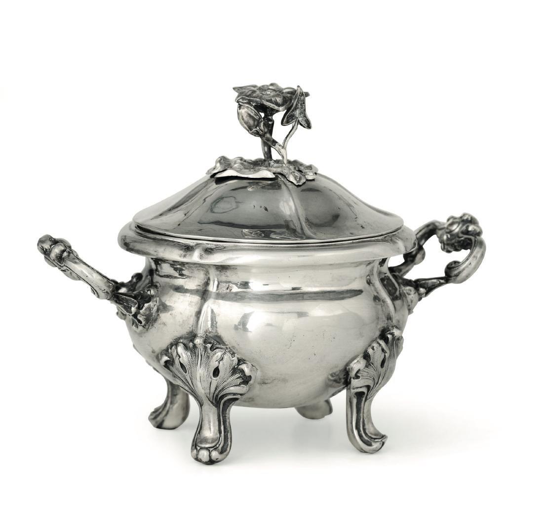 A sugar pot, Ceppi, Milan, mid 1800s