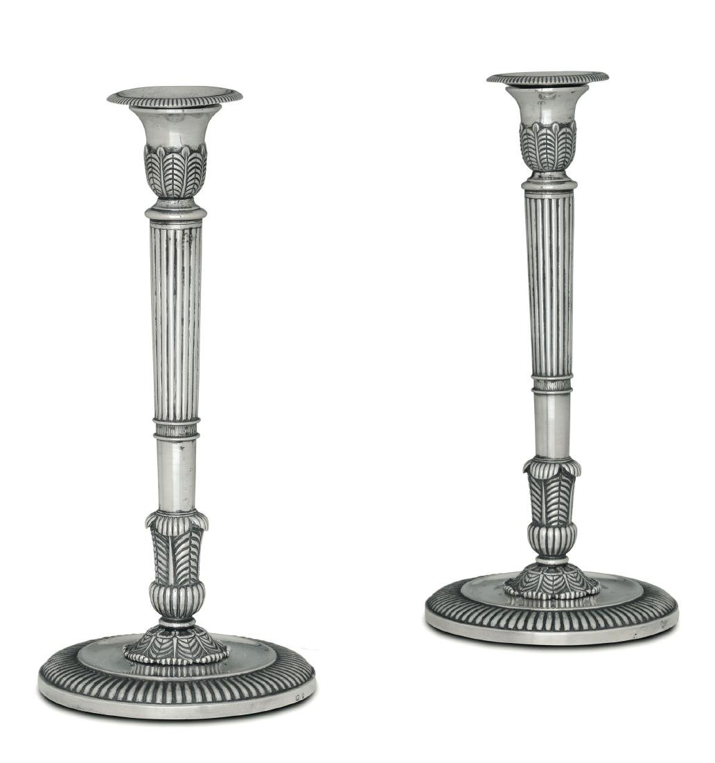 Two candle holders, Italy, 19th century