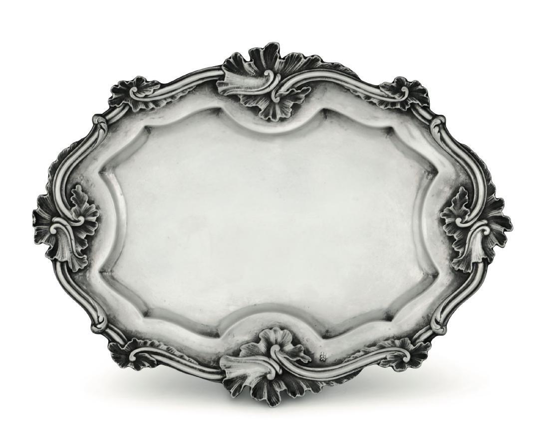 A tray, Naples, likely 18th century