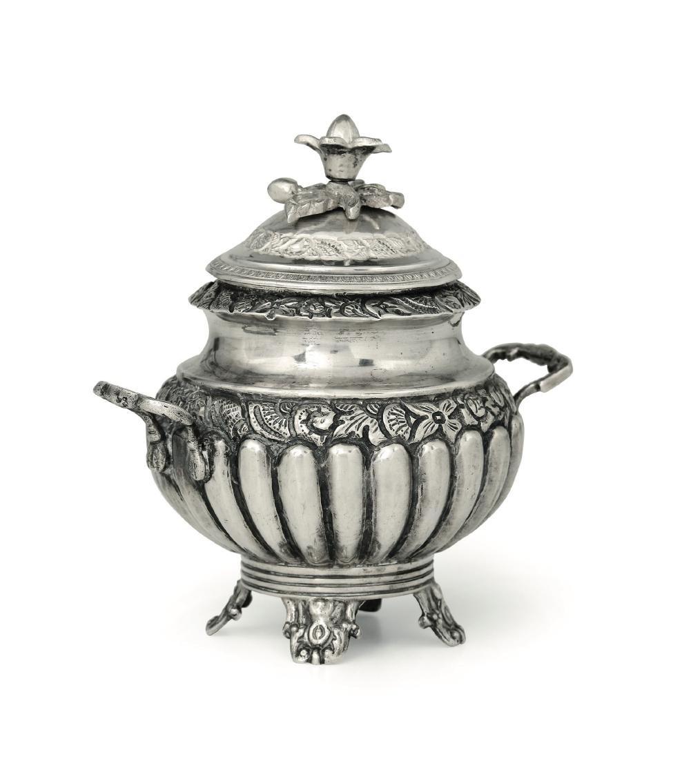A sugar pot, Naples, mid 1800s