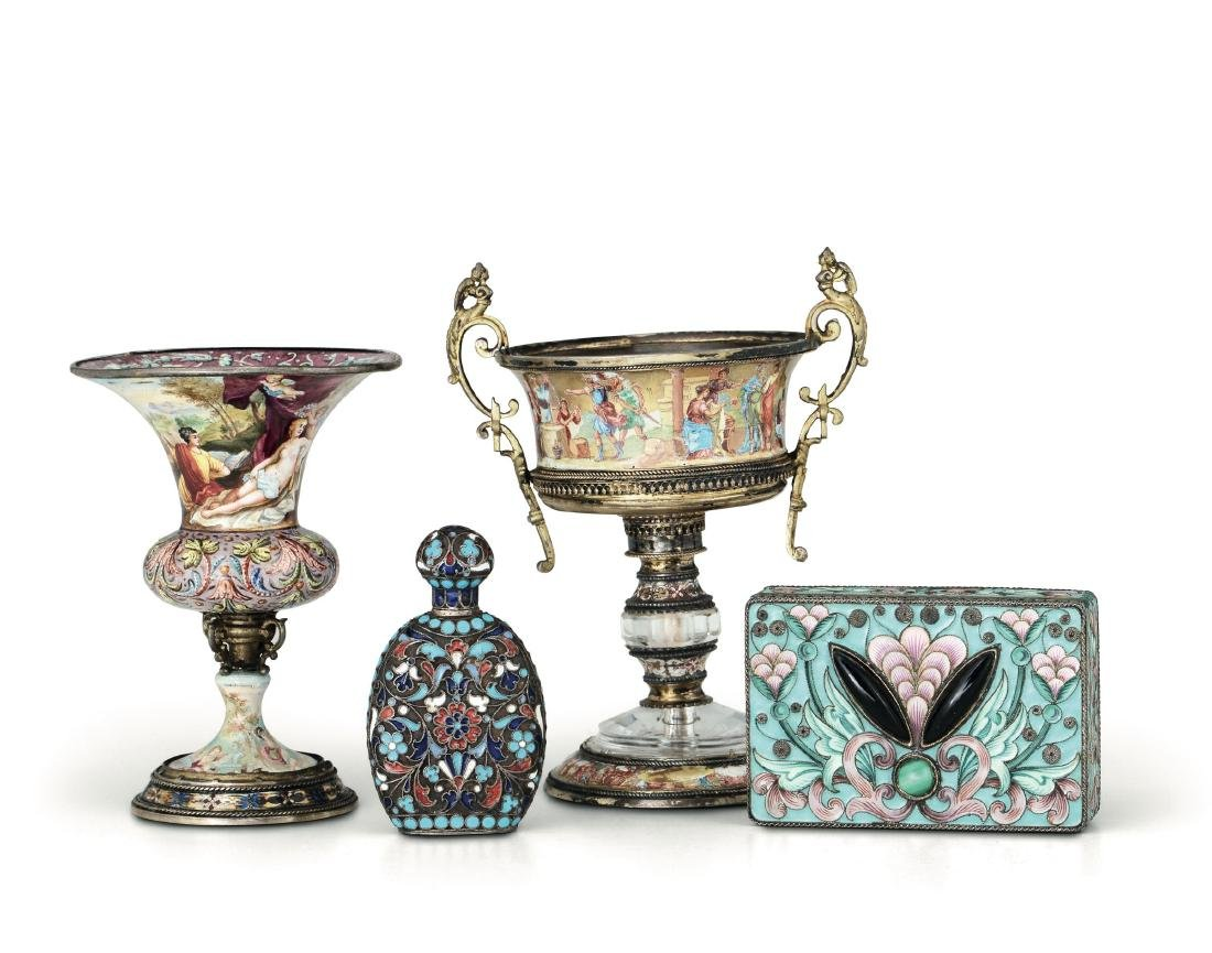A vase and a cup, Austria, 19th century