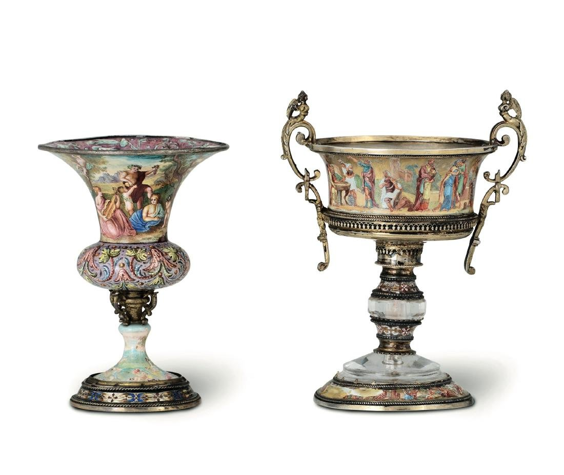 A vase and a cup, Austria, 19th century - 3